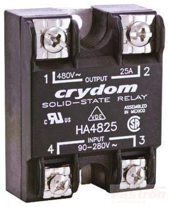 HA4850, Solid State Relay, Single Phase 90-280VAC Control, 50A, 48-530VAC Load