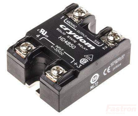 HD4825-10, Solid State Relay, Single Phase 3-32VDC Control, 25A, 48-530VAC Load, Random Crossing
