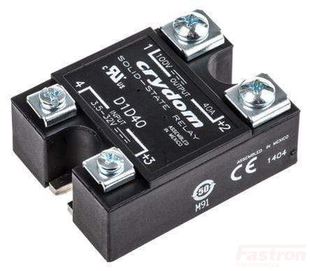 D1D80, 3-32VDC Input, 100V, 80Amp DC Output Solid State Relay,