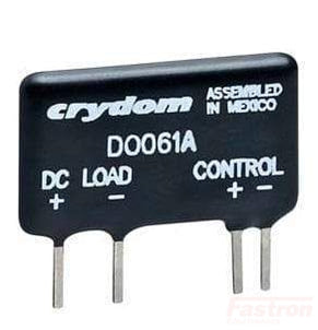 Crydom - Sensata SSR DC Load DO061B, Mini-SIP Solid State Relay,, 1.7-9VDC Control, 1 Amp, 3-60VDC out, PCB Mount FE-DO061B