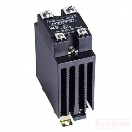 Fastron Electronics Solid State Relay Heatsink Assembly AC Load HS201DR + RS1API420MA280025R, Single Phase Proportional Phase Controller with Heatsink, 4-20mA Input, 240V, 23 Amps FE-HS201DR + RS1API420MA280025R