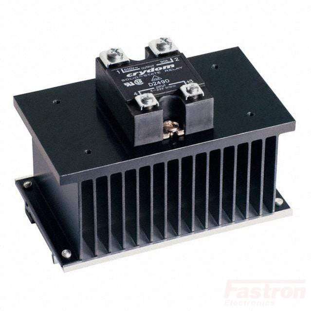 HS103DR + MCBC2450DF, Single Phase Proportional Burst Controller with Heatsink, 10 Cycles, 4-20mA Input, 90-280VAC, 50 Amps @ 40 Deg C
