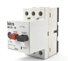 Iskra Doo Motor Protection Switch MS-25-6.3, Motor Protection Switch, 3 Phase, 690VAC, 4 - 6.3 Amp Setting Range FE-MS-25-6.3