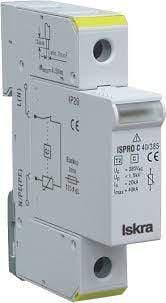 Iskra Doo Surge Protection Device ISPRO C 120/440 (3+0), Modular Surge Protection Device (SPD) 3 Pole 40kA,440VAC, DIN Rail Mount. For Sub Distribution Boards FE-ISPRO C 120/440 (3+0)