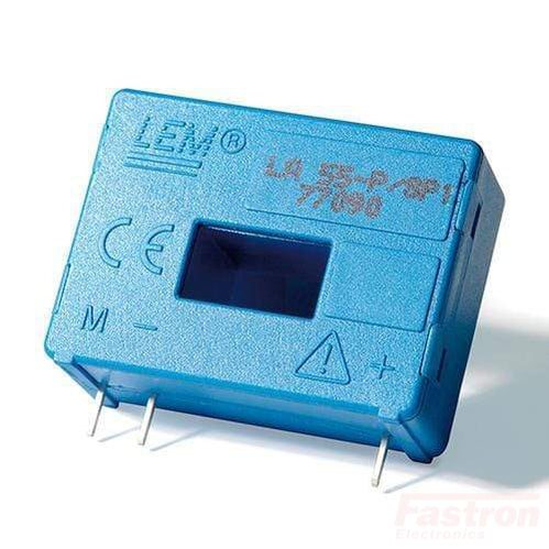 LA 55-P/SP1, C/L Hall Effect Current Sensor, 55 Amp, 25mA Output, PCB Mount, 12.7 x 7mm Aperture