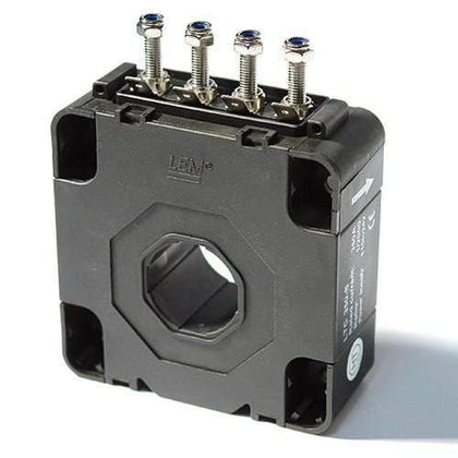 LEM International SA AC/DC Current Hall Effect Sensor LTC 200-S, C/L Hall Effect Current Sensor, 200 Amp, 200mA Output, +/-15..24V, Panel Mount, w/ busbar, X = 0.5%, ø27.5mm FE-LTC200-S