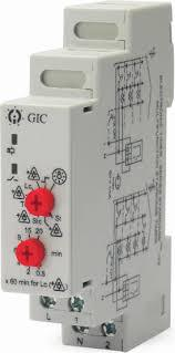 47A3D412 Temp Control Relay, PT100 Input Din Rail, 24-240VAC/DC, Relay output, Adjustable Setpoint -50 to 300 Deg C Range-Monitoring Relay-GIC Controls-Fastron Electronics Store