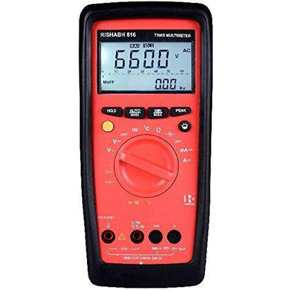 RISHABH DMM 616 Digital Multimeter Basic Accuracy: 0.4%, TRUE RMS MEASUREMENT, Dual display measurement-Portable Meter-RISHABH-Fastron Electronics Store