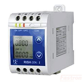 Rishabh Instruments AC Current Transducer Rish Con-I-50-O1A2-O200-D-R, AC Current Transducer, Input Programmable True RMS 50Hz, 1A-5A Full Scale, 4-20mA, 60-300VAC/DC Supply, with display FE-Rish Con-I-50-O1A2-O200-D-R