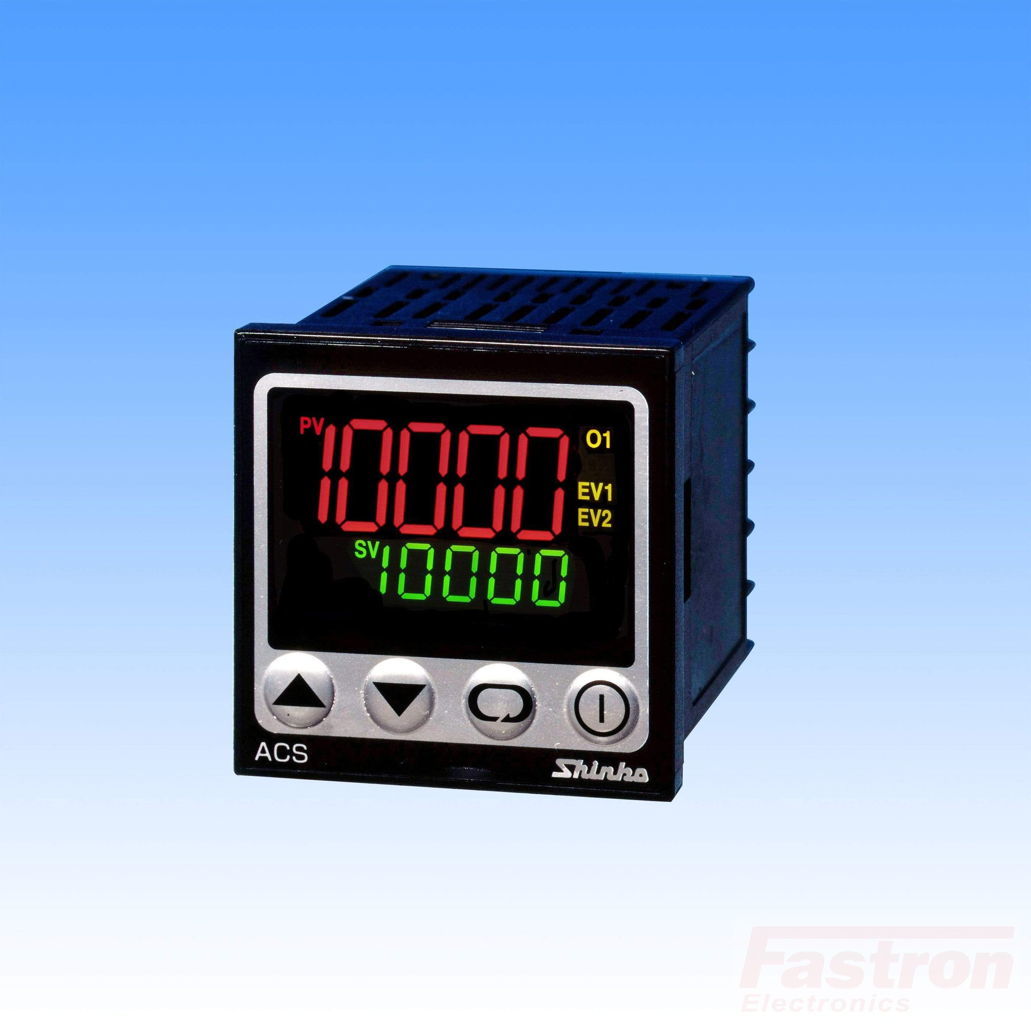ACS13AS/M1-A2 Temp Controller, 48x48mm, 24VAC/DC, Relay output, 2nd Alarm