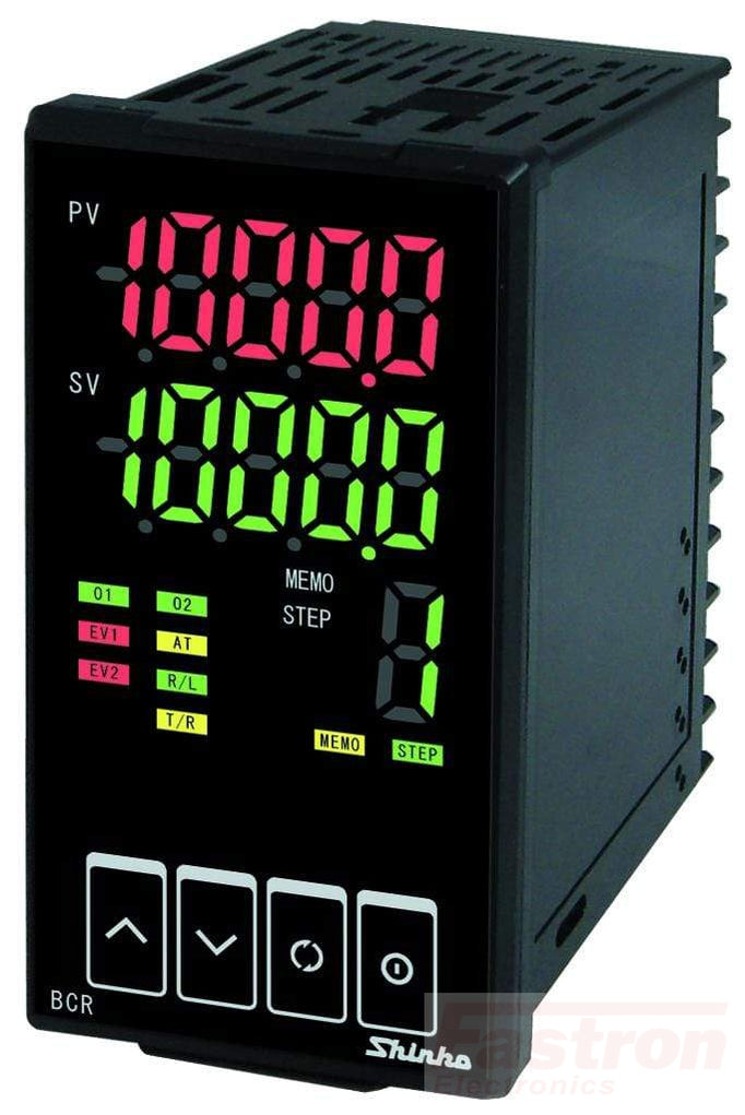 BCR2A1010 Temp Controller, 48x96mm, 24VAC/DC, Relay output, 2nd Event/Relay Cooling output