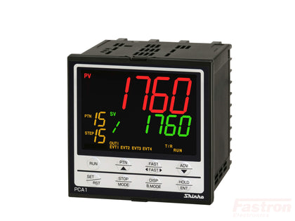 Shinko Technos Co Ltd 96x96 Pattern Temperature/Humidity Controller PCA1R10010 Temperature Pattern Controller, 96x96mm, 24VAC/DC, Relay output, Retransmission, 16 steps, 16 patterns FE-PCA1R10010