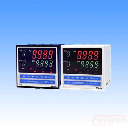 Shinko Technos Co Ltd 96x96 Pattern Temperature/Humidity Controller PCD33AR/M Temp Pattern Controller, 96x96mm,100-240VAC,Relay output, 10 steps, 10 patterns FE-PCD33AR/M