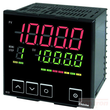 Shinko Technos Co Ltd 96x96 Temperature/Humidity Controller BCD2R1006 Temp Controller, 96x96mm, 24VAC/DC, SSR output, RS485 Comms FE-BCD2R1006