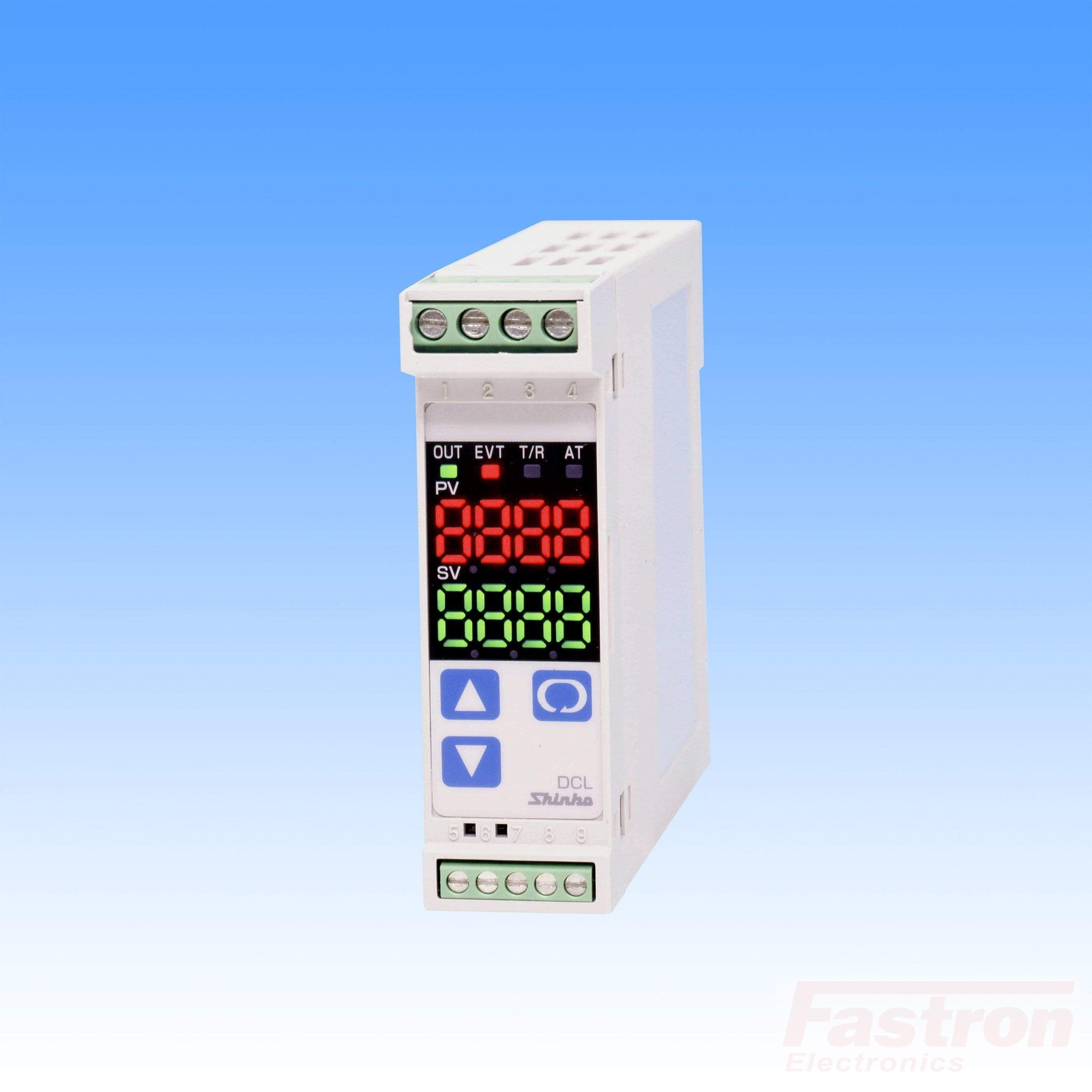 DCL33AA/M C5 SP05 Temp Controller, Din Rail, 240VAC, Relay output, Relay Alarm