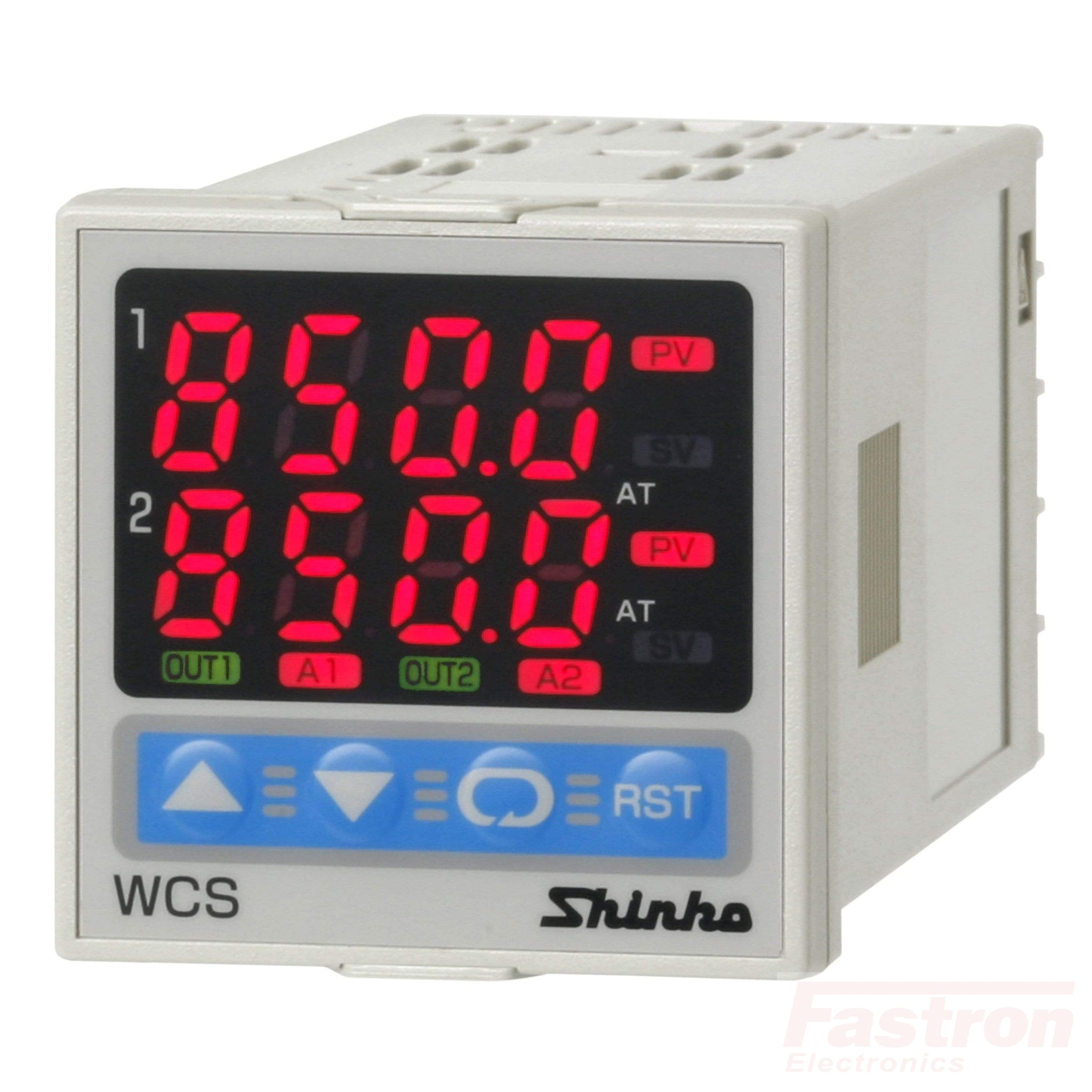 WCS13ARR/MM Dual Temperature Controller, 100-240VAC,Relay out,Relay out