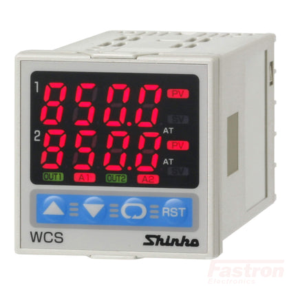 Shinko Technos Co Ltd Temperature/Humidity Controller WCS13ARR/MM Dual Temperature Controller, 100-240VAC,Relay out,Relay out FE-WCS13ARR/MM