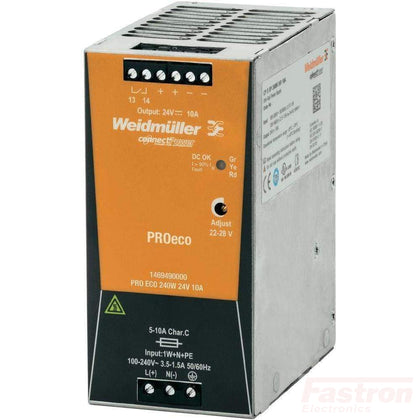 Weidmuller Power Supply Din Rail Mount Powewr Supply 70W 24V 3A FE-CP SNT 70W 24V 3A