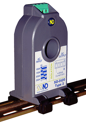XD-R420-2, Current Transducer, True RMS, Ipn = Selectable 5,10,15,20,25,30 Amp, 16-36VDC Loop powered