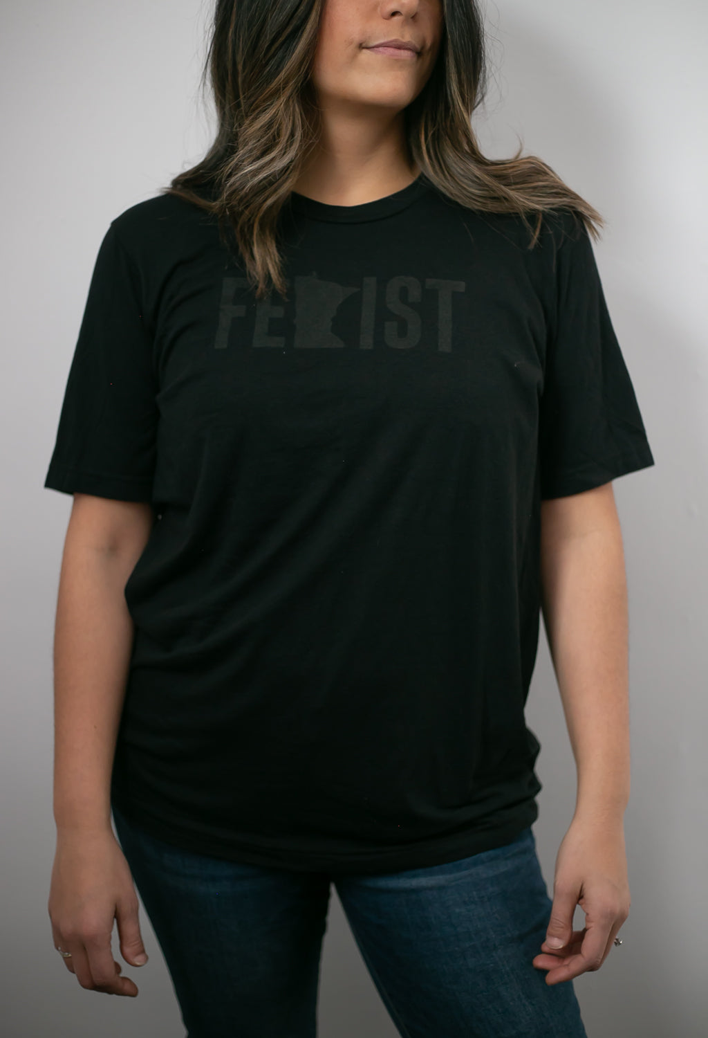 MnFem Black on Black Unisex Tee