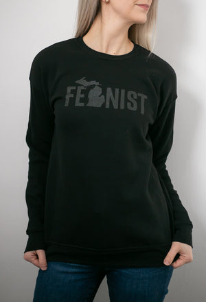 Michigan Fem Crewneck Sweatshirt