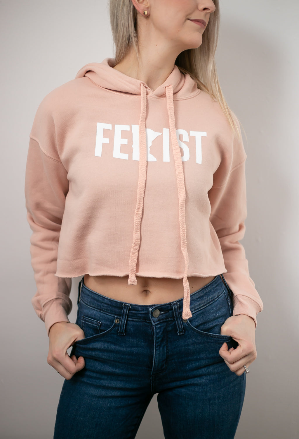 MnFem Blush Cropped Pullover