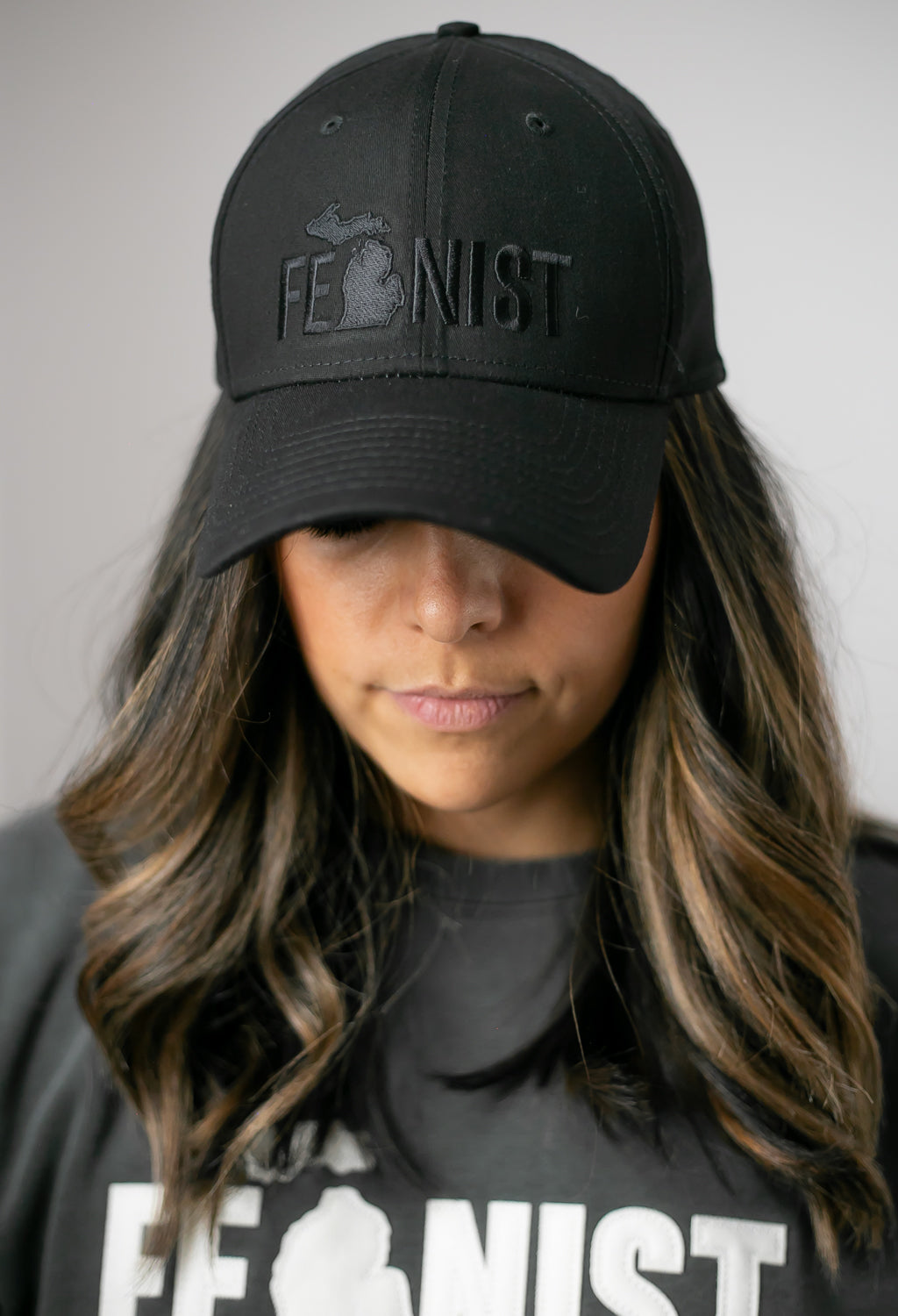 Michigan Feminist Black on Black Hat