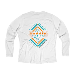 Go Paddle Boarding Women's Long Sleeve Performance V-neck Tee