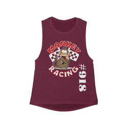 Monkey Racing Women's Flowy Scoop Muscle Tank