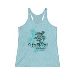 Signature Sea Turtle Women's Tri-Blend Racerback Tank