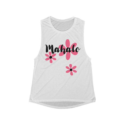 Mahalo Women's Flowy Scoop Muscle Tank - RUNS SMALL SIZE UP