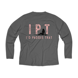 Women's I P T Long Sleeve Performance V-neck Tee
