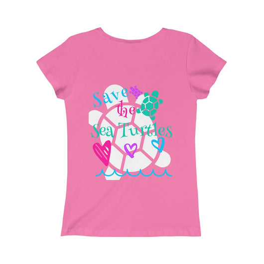 Save the Sea Turtles Girls Princess Tee