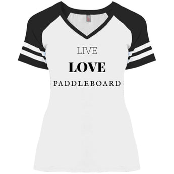 Live Love Paddle District Ladies' Game V-Neck T-Shirt