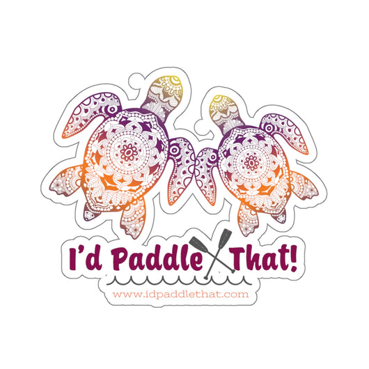 Boho Sea Turtles Kiss-Cut Stickers