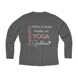 Yoga Goddess Women's Long Sleeve Performance V-neck Tee