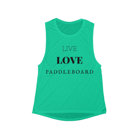 Live Love Paddle Women's Flowy Scoop Muscle Tank ~ RUNS SMALL SIZE UP