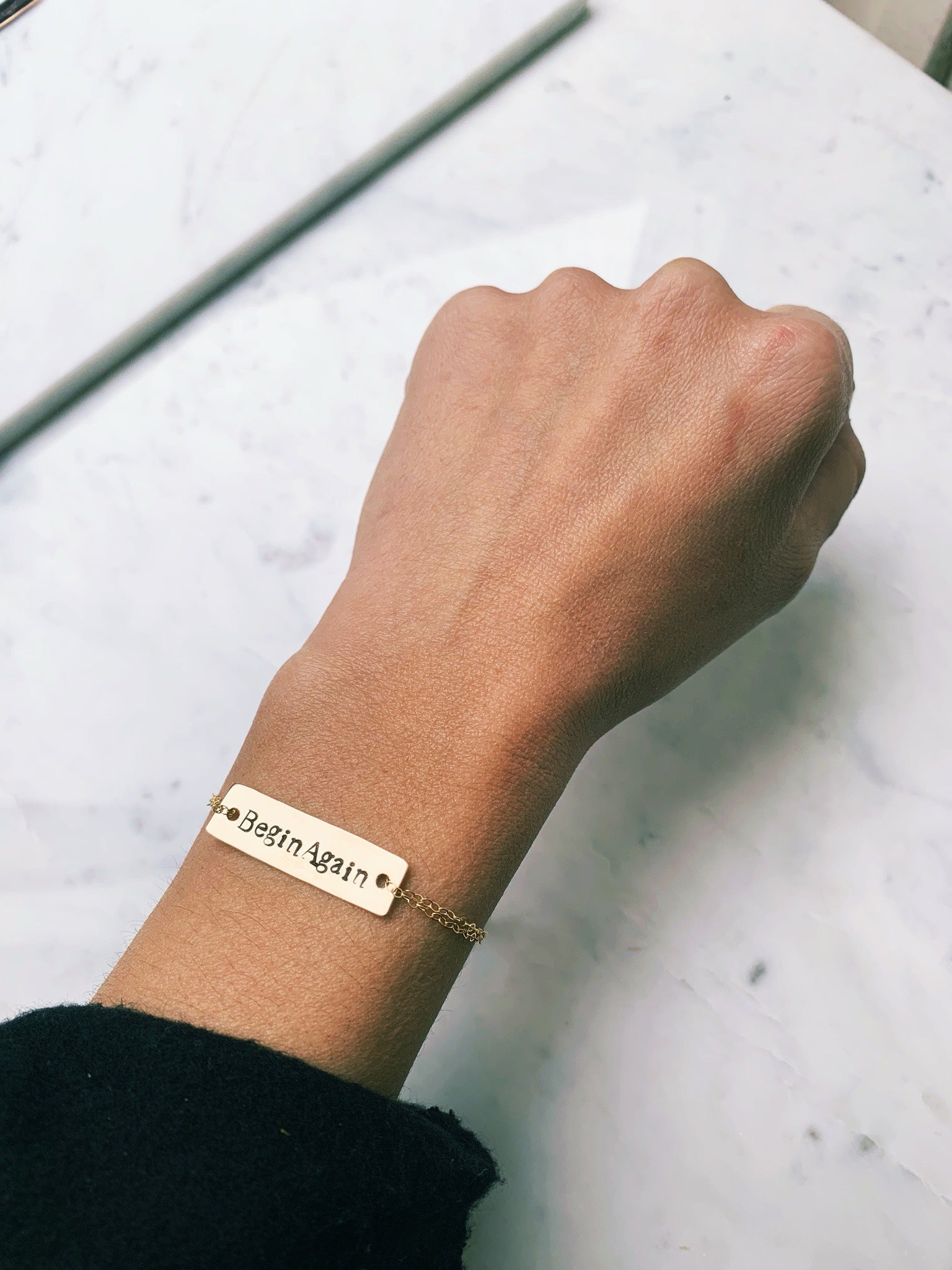 Begin Again Bar Bracelet