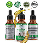 BioSummit Labs Organic Hemp Oil for Dogs and Cats | GLA Nutrient Rich Dog Anxiety Relief & Joint Supplement | Promotes Relief from Joint Pain, Anxiety, Arthritis, Inflammation