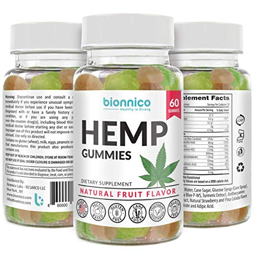 60 Hemp Gummies - Pure Hemp 25mg Oil Extract Infused per Gummy for Pain and Anxiety. Formulated to: Relieve...