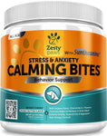 Calming Treats For Dogs - Anxiety Composure Relief with Suntheanine - Organic Kelp & Valerian Root + L Tryptophan for Dog Stress & Separation Aid in Fireworks, Thunder + Chewing & Barking - 90 Chews