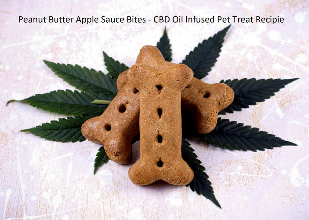 Peanut Butter Apple Sauce Bites - CBD Oil Infused Pet Treat recipe Contains NO CBD