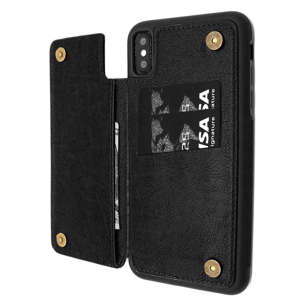save off 674f5 2c5c2 iPhone XR Wallet Case with Card Holder