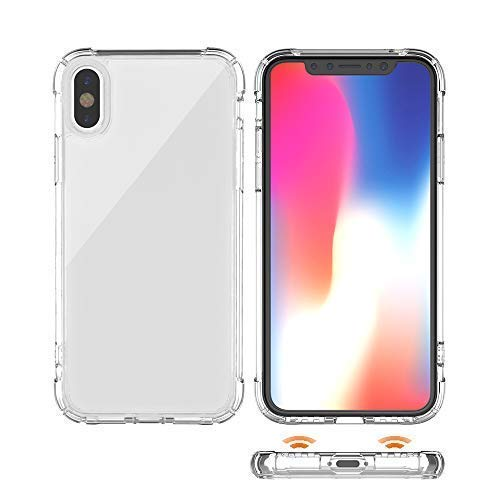 san francisco fc46f d98b6 iPhone X Case,iPhone Xs Case, ANHONG Clear Protective Heavy Duty Case with  Shock Absorption Bumper + Scratch Resistant Hybrid Rigid Clear Back for ...