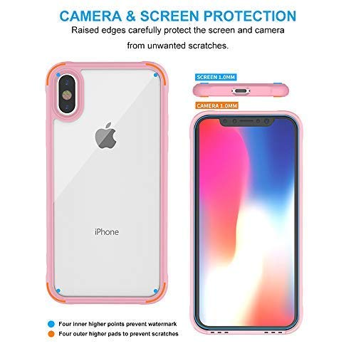 clear iphone xs case with pink