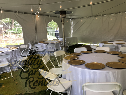20x30 chairs and tables rentals