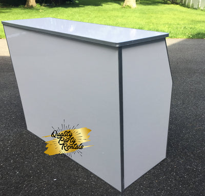 4' White Portable Bar