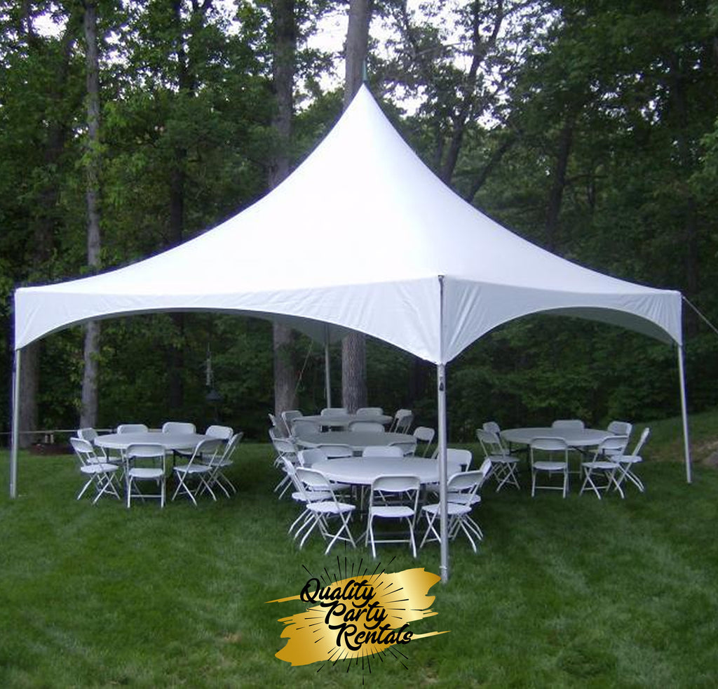 20 x 20 high peak frame tent package