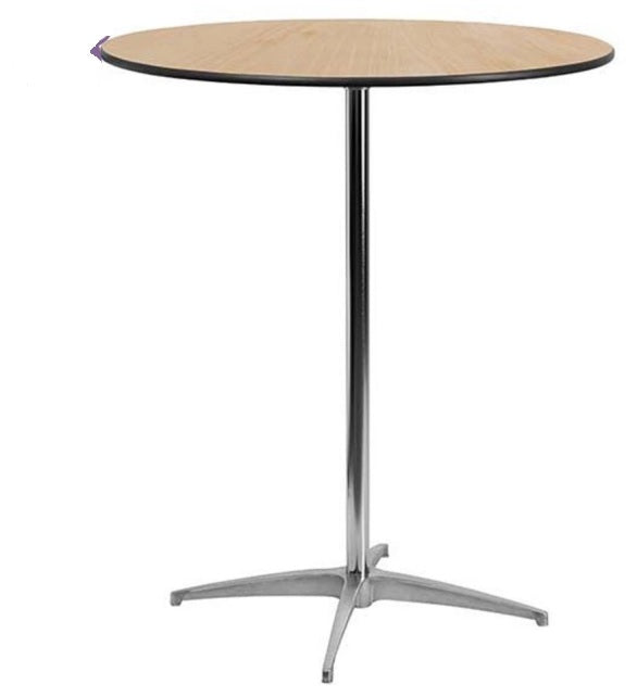 30'' Round Wood Cocktail Table