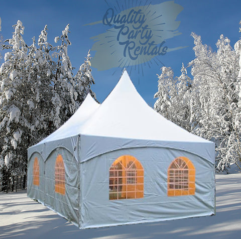 20 x 30 high peak frame tent rentals